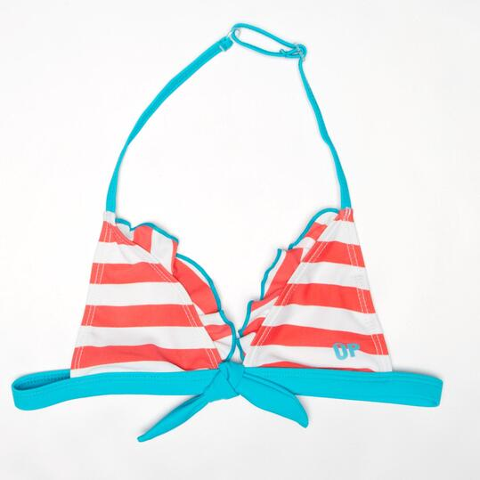 Top Bikini Triángulo UP Rayas Niña (2-8)