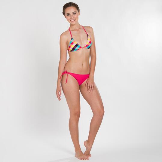 Top Bikini UP STAMPS Cuadros Multicolor