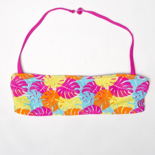 Top Bikini Bandeau UP Hojas Niña (10-16)