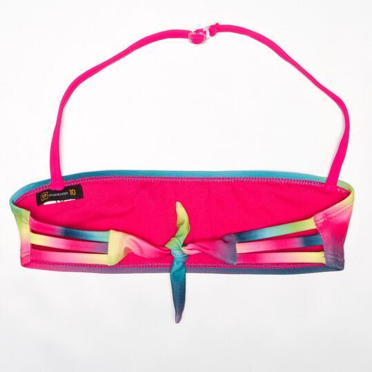 Top Bikini Bandeau UP Arco Iris (10-16)