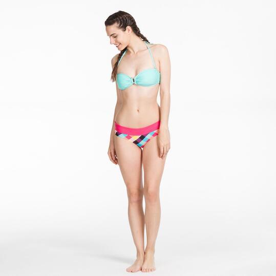 Top Bikini Bandeau UP STAMPS Turquesa