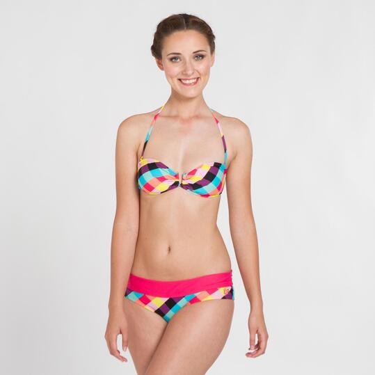Top Bikini Bandeau UP STAMPS Cuadros