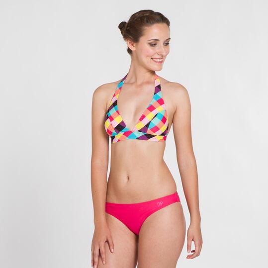 Top Bikini Triángulo UP STAMPS Cuadros