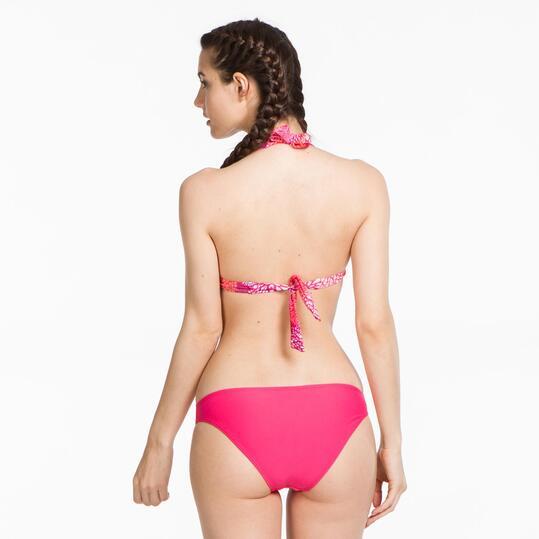 Top Bikini Triángulo UP STAMPS Pompón