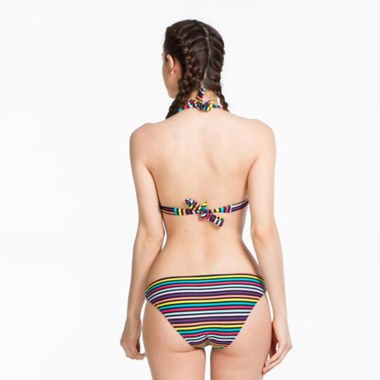 Top Bikini Triángulo UP STAMPS Rayas