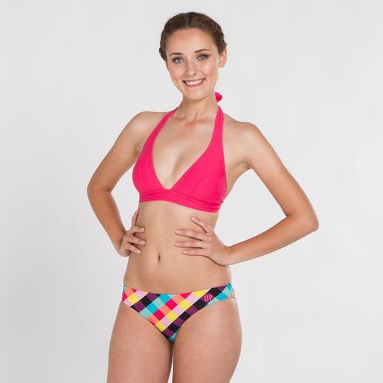 Top Bikini Triángular UP STAMPS Fucsia