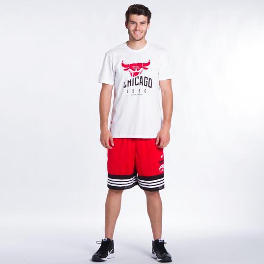 ADIDAS NBA Camiseta Bulls Blanca Hombre