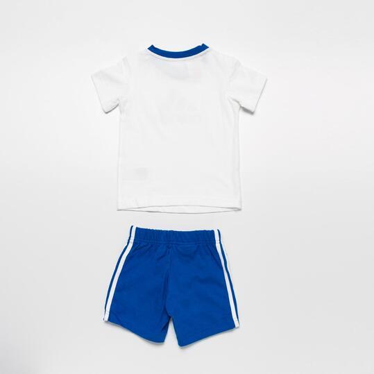 ADIDAS ESS Conjunto Camiseta Pantalón Niño Blanco Azul (12-36m)