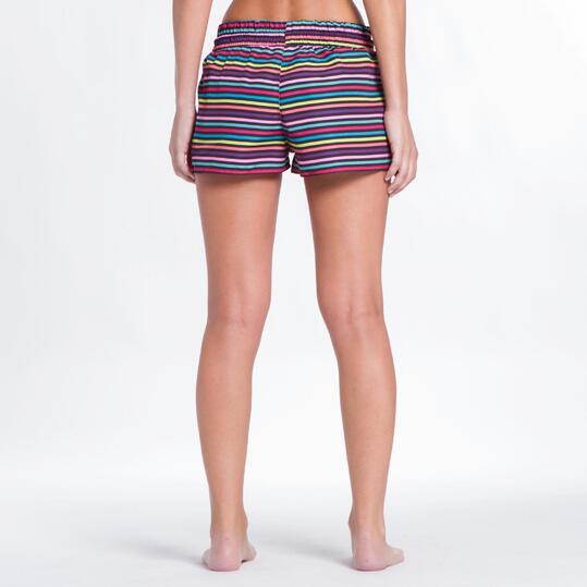Pantalón Corto UP Rayas Mujer