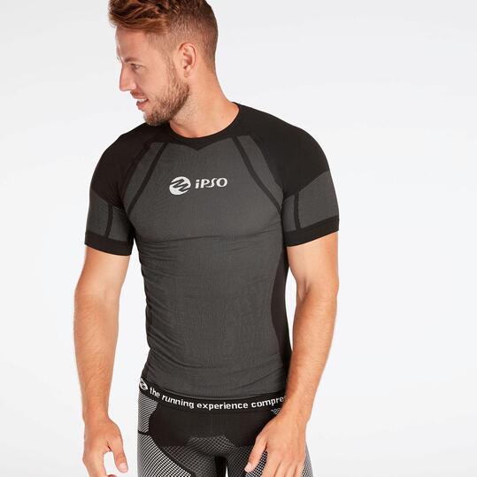 Camiseta Compresión IPSO Negra Blanca