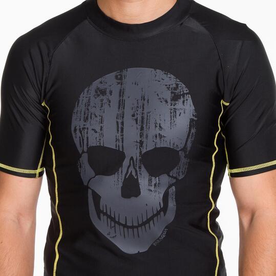 Camiseta Natación PARAQUA Negra Hombre