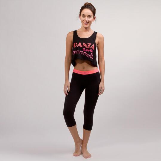 Camiseta Yoga Tirantes ILICO Negro Mujer