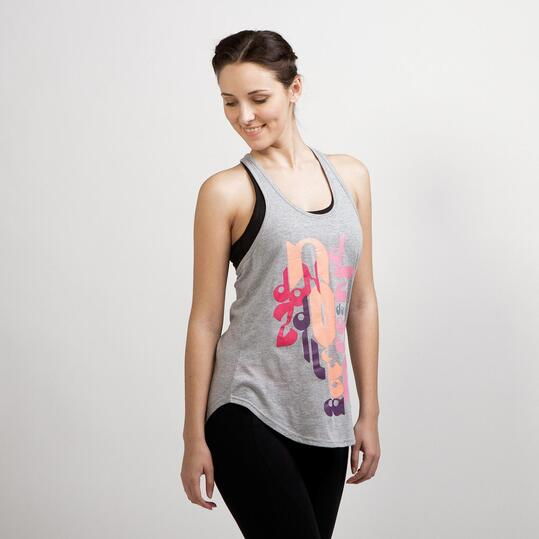 Camiseta Yoga Tirantes ILICO Gris Mujer