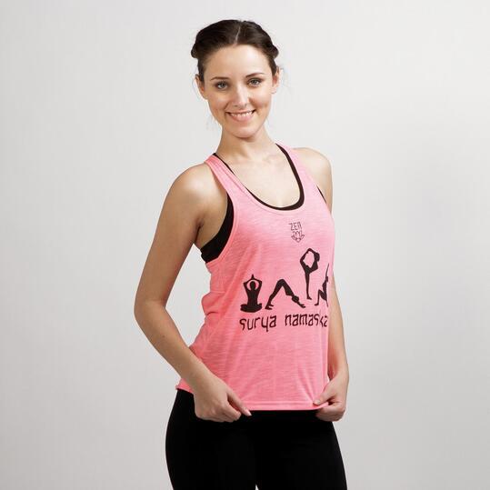 Camiseta Yoga Tirantes ILICO ZEN Rosa Mujer