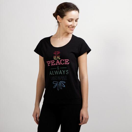Camiseta Yoga ILICO ZEN Negro Mujer
