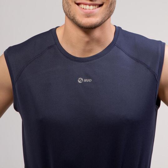 Camiseta Running IPSO BASIC Marino Hombre