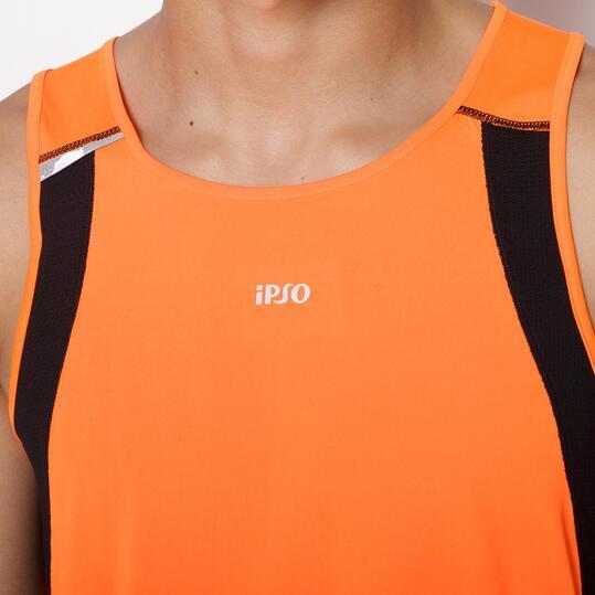 Camiseta Sin Mangas Running IPSO COMBI Naranja Hombre