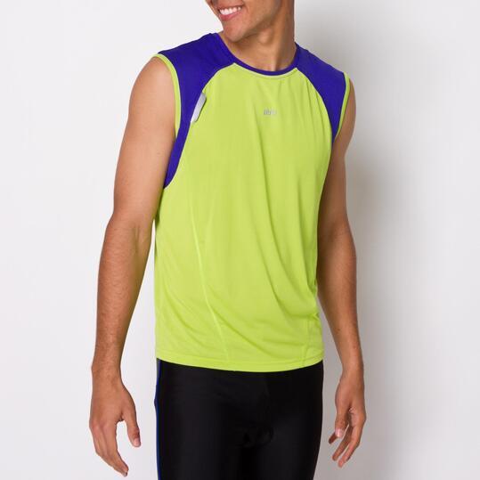 Camiseta Running Sin Mangas IPSO COMBI Azul Hombre