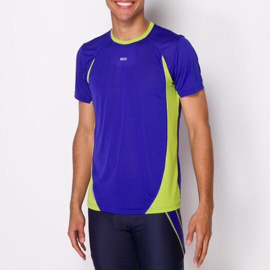 Camiseta Running IPSO COMBI Azul Verde Hombre
