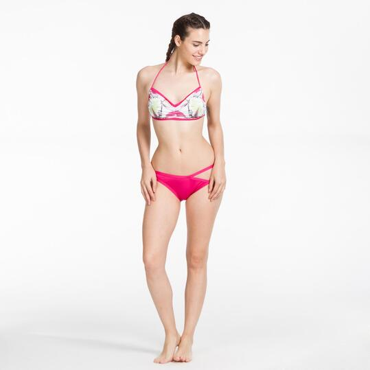 Bikini Playa Banda SILVER Estampado Fucsia