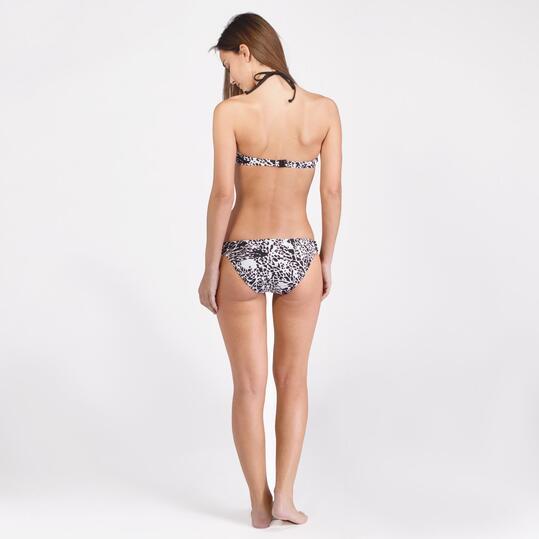 Bikini Playa Banda SILVER Estampado Negro Blanco