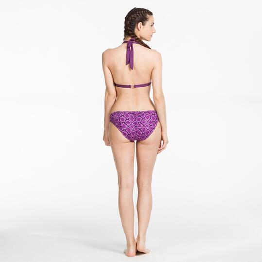 Bikini Triángulo Estampado SILVER Morado