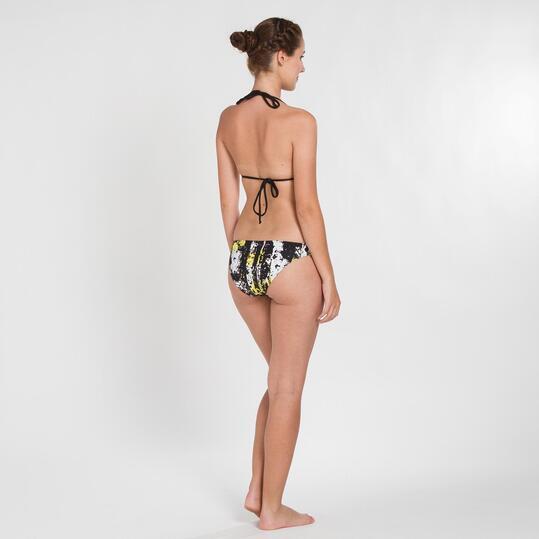 Bikini Triángulo SILVER Estampado Negro