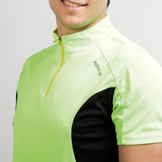 Maillot Ciclismo MITICAL BRONCE Verde Flúor Negro