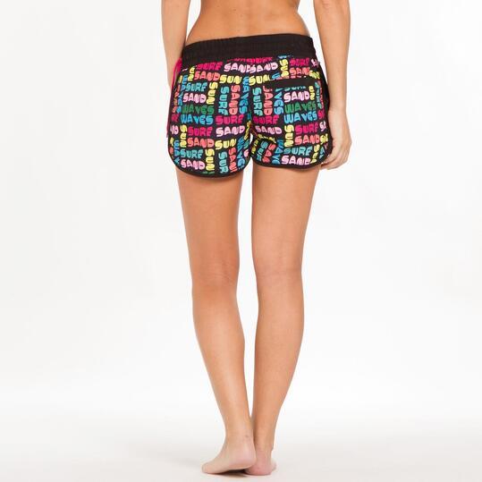 Pantalón Corto Curvo SILVER Estampado Multicolor Mujer