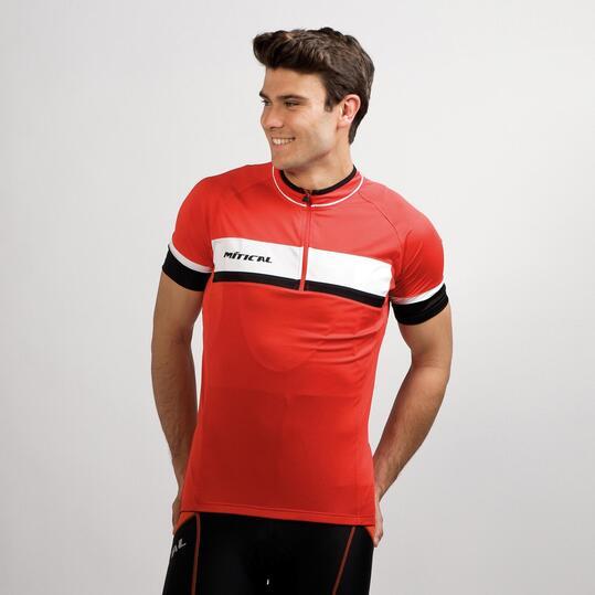 Maillot Ciclismo MITICAL PLATA Rojo Blanco Hombre