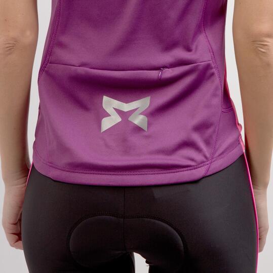 Maillot Ciclismo MÍTICAL BRONCE Morado Rosa Mujer