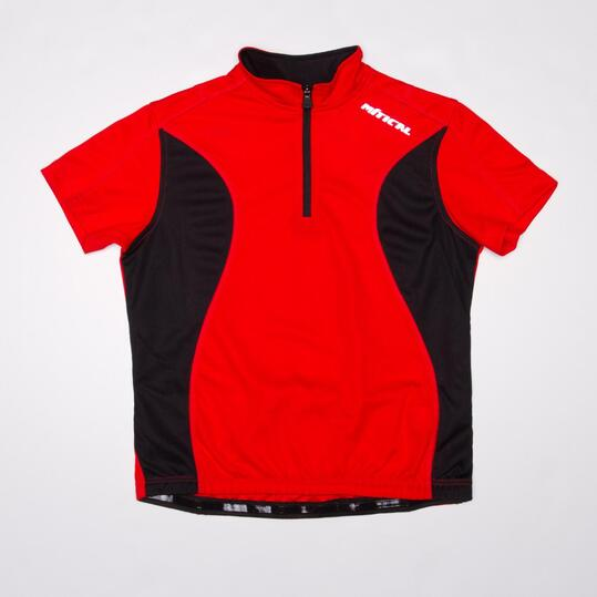Maillot Ciclismo MÍTICAL BRONCE Rojo Negro Niño (6-14)