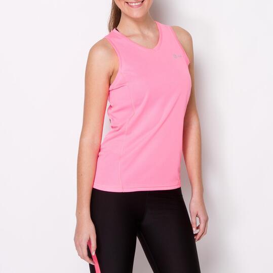 Camiseta Running Tirantes IPSO BASIC Rosa Mujer