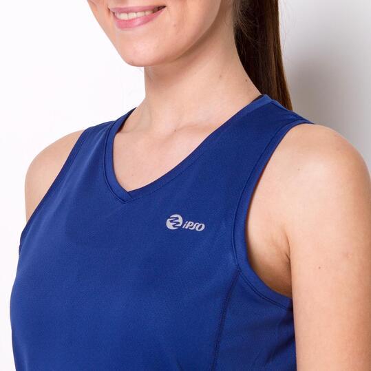 Camiseta Running Tirantes IPSO BASIC Marino Mujer
