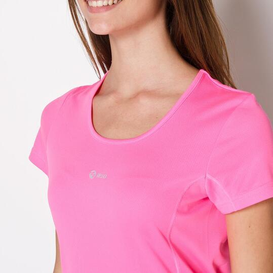 Camiseta Running IPSO BASIC Fucsia Mujer