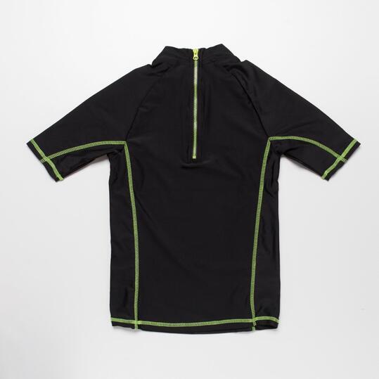 Camiseta Natación PARAQUA Negra Niño (10-16)