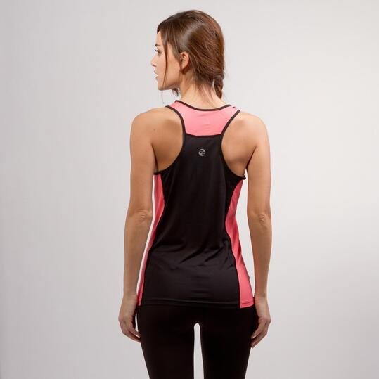 Camiseta Tirantes Running IPSO COMBI Negro Mujer