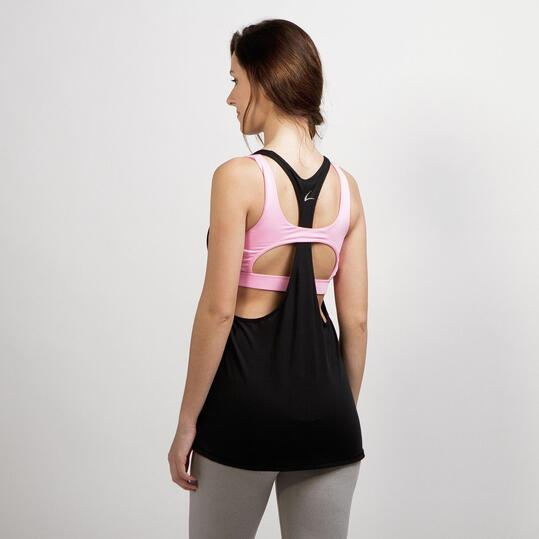 Camiseta Yoga ILICO PLATA Negro Rosa Mujer