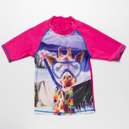 Camiseta Natación PARAQUA Fucsia Niña (2-8)