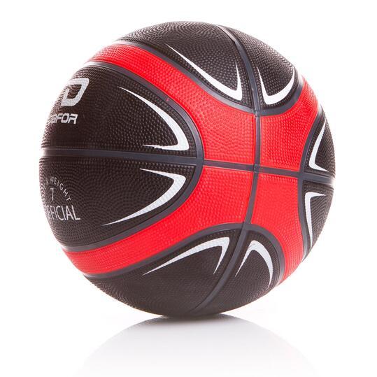 DAFOR Balón Baloncesto Negro Rojo