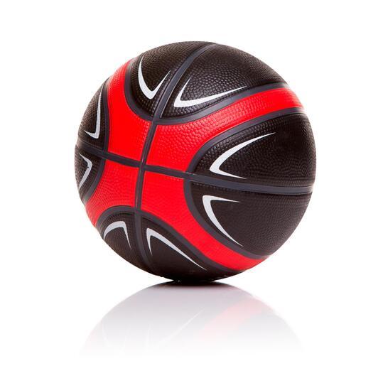 Minibalón Basket DAFOR Negro Rojo
