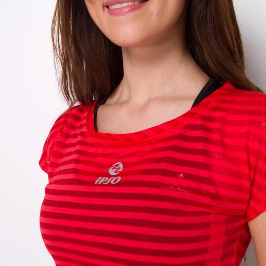 Camiseta Running IPSO EXPERIENCE Naranja Mujer