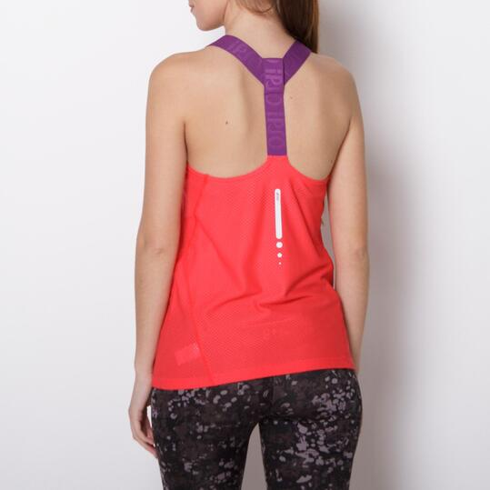 Camiseta Running IPSO EXPERIENCE Coral Mujer