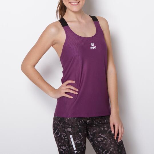 Camiseta Running IPSO EXPERIENCE Morado Mujer
