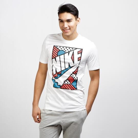 NIKE POP Camiseta Manga Corta Blanco Hombre