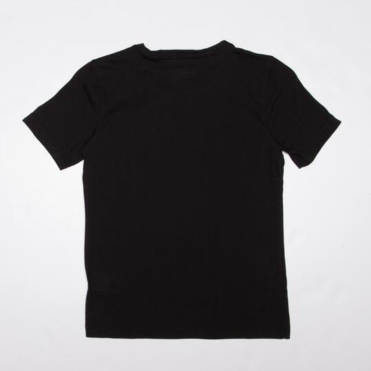ADIDAS Camiseta Manga Corta Negro Niño