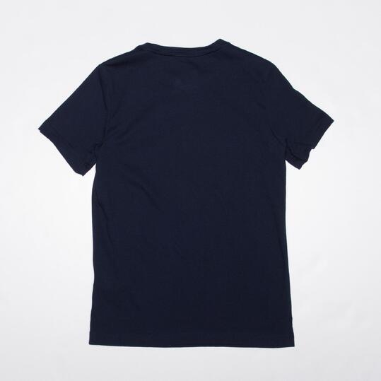 ADIDAS Camiseta Manga Corta Azul Marino Niño