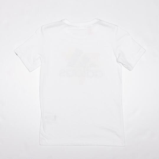 ADIDAS Camiseta Manga Corta Blanco Niño (10-16)