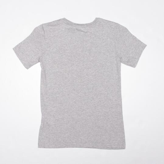ADIDAS Camiseta Manga Corta Gris Niño (10-16)