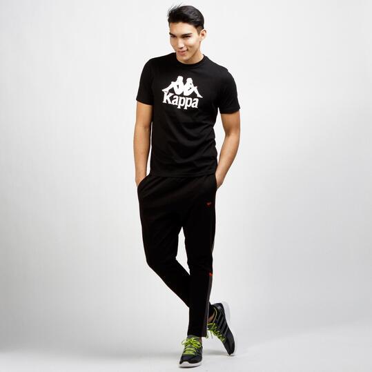 KAPPA Camiseta Manga Corta Negro Hombre